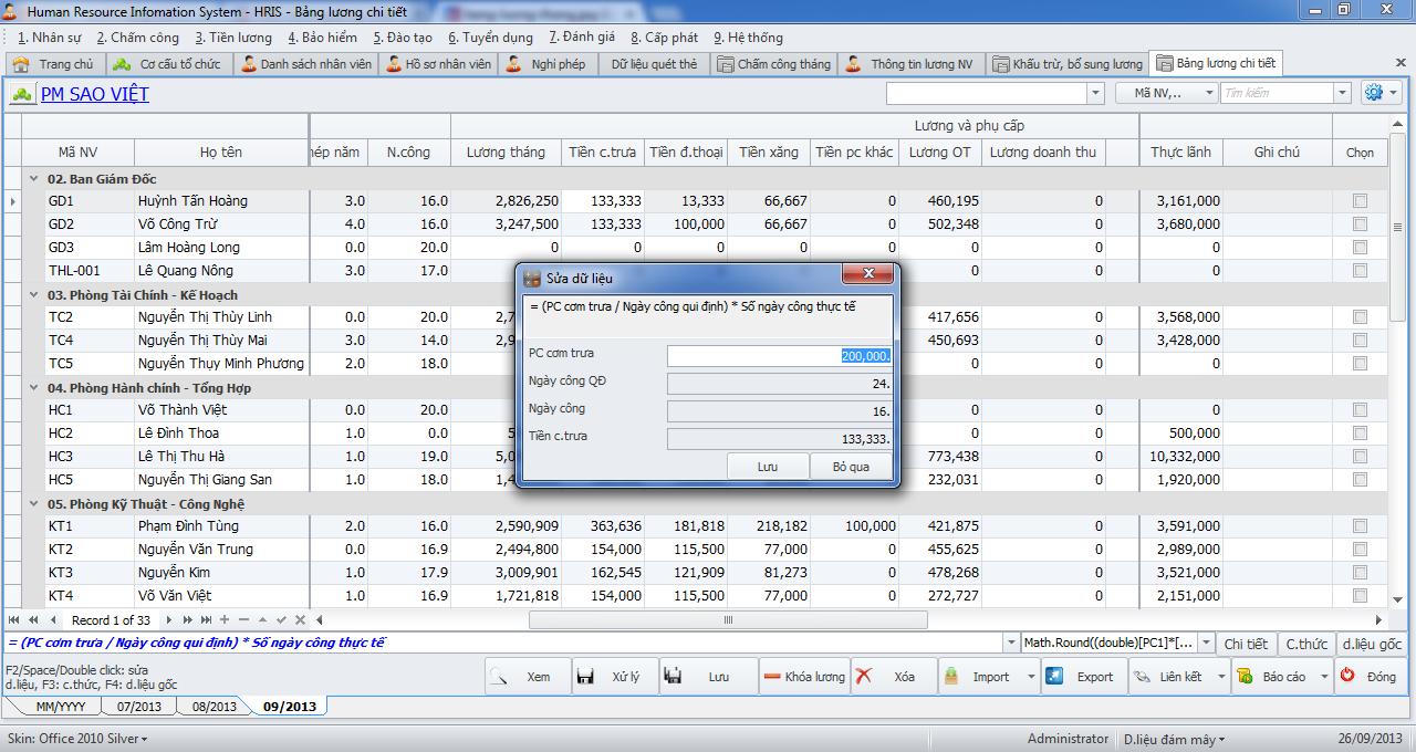 Tổng thể về Phần mềm nhân sự